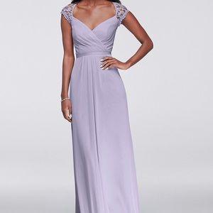 David's Bridal, long bridesmaid dress